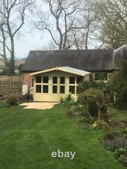 14x8'Lydian Summerhouse' Heavy Duty Tanalised Wooden Garden Shed/Summerhouse