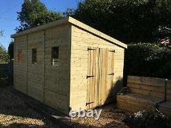 14x8'Winchester Garden Shed' Heavy Duty Wooden Workshop/Summerhouse Tanalised