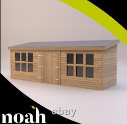 14x8'Winchester' Wooden Garden Shed/Workshop/Summerhouse, Heavy Duty Tanalised