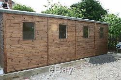 16 x 10 Heavy Duty Scampton t&g Wooden Garage Timber Workshop Garden Shed