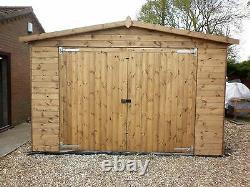 16 x 12 Heavy Duty Scampton t&g Wooden Garage Timber Workshop Garden Shed