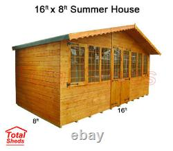 16 x 8 SUPREME SUMMER HOUSE LOG CABIN SHED TOP QUALITY GRADED WOODEN TIMBER
