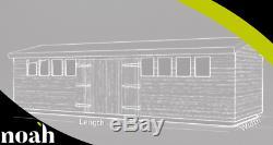 16x10'Don Marino' Heavy Duty Wooden Garden Shed/Workshop/Summerhouse