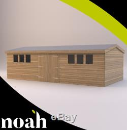 16x10'Drummond' Wooden Garden Shed/Workshop/Garage Heavy Duty Tanalised Storage
