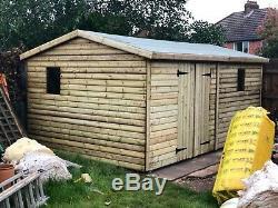 16x10 Heavy Duty Workshop, Tanalised, Shed, Garden, Free Install, Loglap, T&G