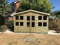 16x10'Lydian Summerhouse' Heavy Duty Wooden Garden Shed/Summerhouse
