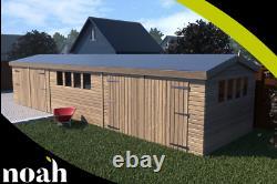 16x10'New Texan Workshop' Heavy Duty Wooden Garden Shed/Workshop/Garage
