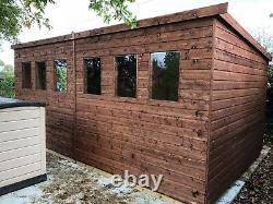 16x10 Shed Workshop Garden Building