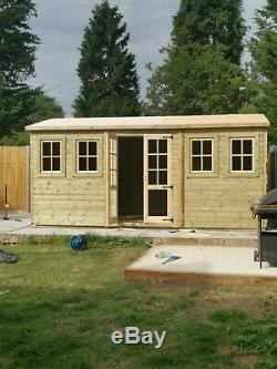 16x10 Summerhouse, Tanalised, Shed, Garden, Free Install, Loglap, Georgian