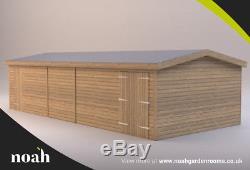 16x10'Whitefield Shed' Heavy Duty Wooden Garden Shed/Workshop/Garage