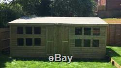 16x10'Winchester' Wooden Garden Shed/Workshop/Summerhouse Heavy Duty Tanalised