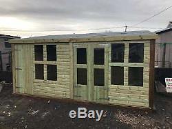 16x12'Frederick' Heavy Duty Wooden Garden Summerhouse/Shed/Workshop/Garage