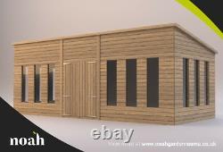 16x6'Statesman Mancave' Heavy Duty Wooden Garden Workshop/Summerhouse Tanalised