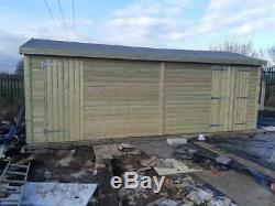16x6'Whitefield Shed' Heavy Duty Wooden Tanalised Garden Shed/Workshop/Garage