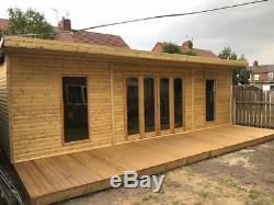 16x8 Bi Folding Doors Summer House Pent Garden Office Shed Summerhouse