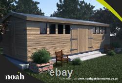 16x8'Don Marino' Heavy Duty Wooden Garden Shed/Studio/Summerhouse Tanalised