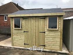 16x8'Drummond' Garden Shed/Workshop/Garage. Bespoke-Heavy Duty-Wooden-Tanalised