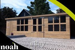 16x8'Frederick' Heavy Duty Wooden Garden Summerhouse/Shed/Workshop/Garage