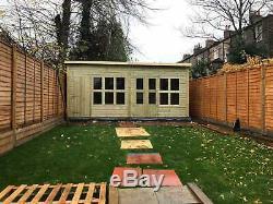 16x8'Frederick' Heavy Duty Wooden Garden Summerhouse/Shed/Workshop Tanalised