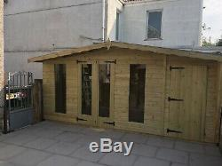 16x8 Garden Summer House Combi Shed 22mm Tanalised T&g Other Sizes Available