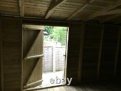 16x8'Georgia' Heavy Duty Tanalised Wooden Garden Shed/Summerhouse/Office