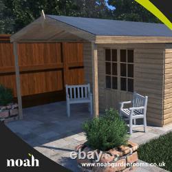 16x8'Georgia Summerhouse' Heavy Duty Wooden Garden Shed/Summerhouse/Office
