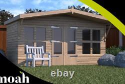 16x8'Lydian Summerhouse' Heavy Duty Wooden Tanalised Garden Shed/Summerhouse