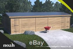 16x8'Whitefield' Wooden Garden Shed/Workshop/Garage Heavy Duty Tanalised