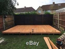 17x14 GEORGIAN SUMMER HOUSE, WOODEN SHED/GARDEN BUILDING. FREE FITTING