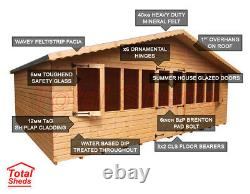 18 x 10 SUPREME SUMMER HOUSE LOG CABIN WOODEN SHED TOP QUALITY GRADED TIMBER