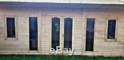18x10 PENT SUMMER HOUSE GARDEN OFFICE SHED LOG CABIN MAN CAVE HEAVY DUTY