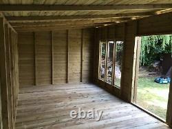 18x10'Statesman Mancave' Heavy Duty Wooden Garden Shed/Workshop/Summerhouse