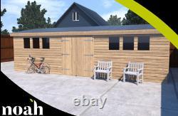 18x12'Drummond Workshop' Heavy Duty Wooden Garden Shed/Workshop/Summerhouse