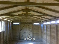 18x12ft Large Wooden Garden Shed 19mm Heavy Duty Summer House Office For Sale