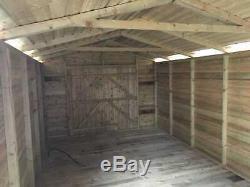 18x8'Hamstead Garage' Heavy Duty Wooden Garden Shed/Workshop/Garage