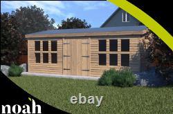 18x8'Winchester Garden Shed' Heavy Duty Wooden Shed/Workshop/Summerhouse