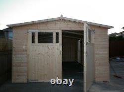 20 x 12 Heavy Duty Coningsby t&g Wooden Garage Timber Workshop Garden Shed