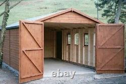 20ft x 12ft Heavy Duty Wooden Garage Timber Workshop Garden Shed Delivery