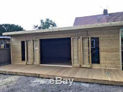 20x10 Bi Folding Doors Summer House Pent Garden Office Shed Summerhouse