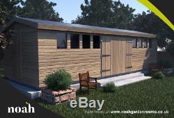 20x10'Don Marino' Heavy Duty Wooden Garden Shed/Workshop/Garage