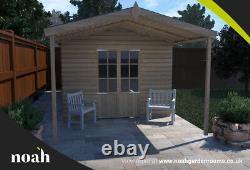 20x10'Georgia Summerhouse' Heavy Duty Wooden Garden Shed/Summerhouse/Office