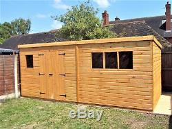 20x10 LARGE GARDEN SHED WORKSHOP / STORAGE HEAVY DUTY/TONGUE & GROOVE NEW