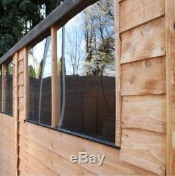 20x10 Overlap Apex Wooden Garden Workshop Large Storage Shed with Double Doors