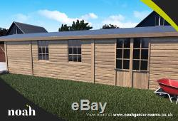 20x10'Oxford Garage' Heavy Duty Wooden Garden Shed/Workshop/Garage