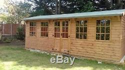 20x10 Summer House Garden Room Man Cave Wooden Workshop shed free fitting