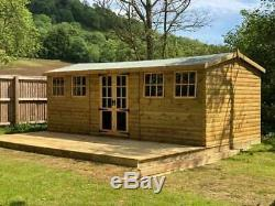 20x10 Summerhouse, Shed, Tanalised, Shed, Garden, Free Install, T&G Loglap