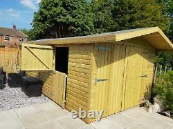 20x10'Swindon Garage' Heavy Duty Wooden Garden Shed/Workshop/Garage D&F