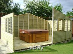 20x10 ULTIMATE LOG CABIN SUMMER HOUSE WOODEN SHED TOP QUALITY GRADED TIMBER