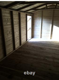20x10'Whitefield Shed' Heavy Duty Wooden Tanalised Garden Shed/Workshop/Garage