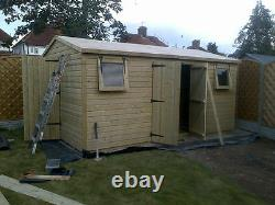 20x10ft SUMMERHOUSE WOODEN GARDEN SHED TANALISED ULTIMATE 19mm